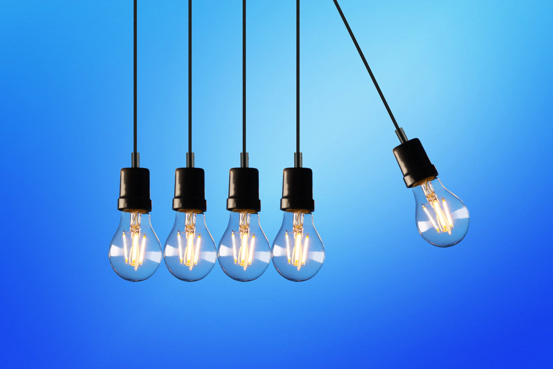 Pendulum Light Bulbs Image - Keeping up with Payment Technology